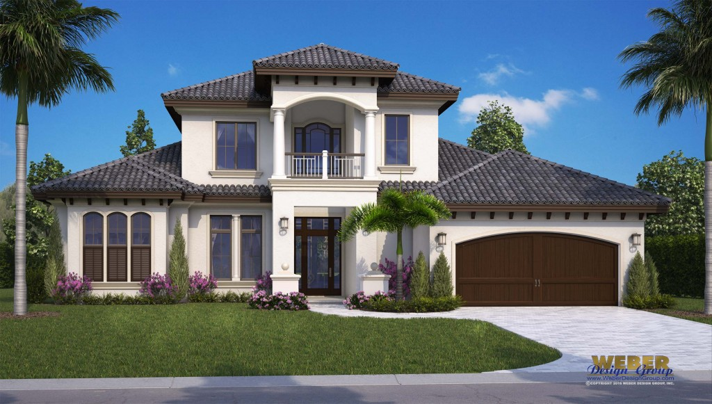 G2 3616 Via Fontana Elevation low res 1024x581 1 - 42+ 2 Story Small Mediterranean House Plans PNG