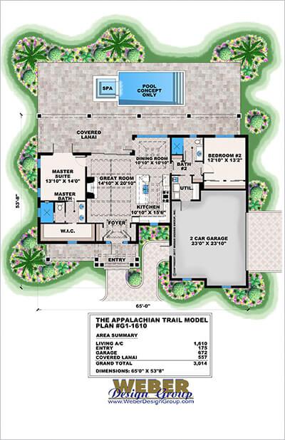 Appalachian Trail House Plan Brochure Presentation Weber Design