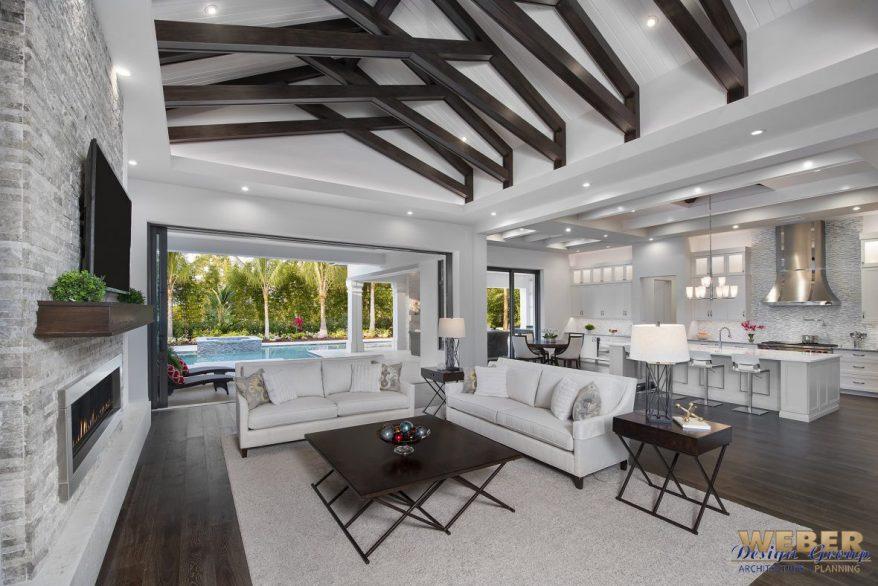 Beach House Plan Transitional West Indies Caribbean Style Floor Plan