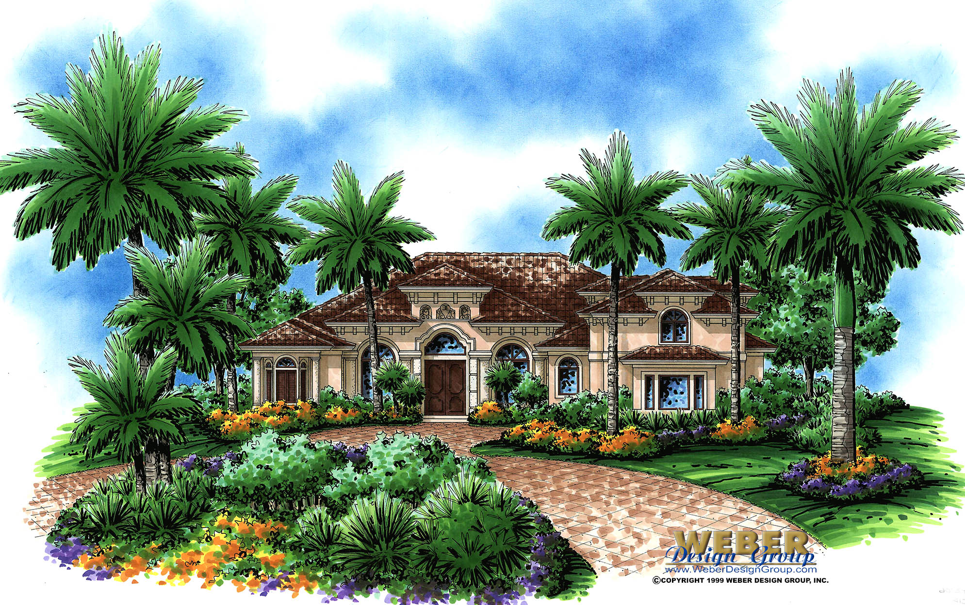 Mediterranean House Plan: Unique 2 Story Tuscan Home Floor Plan