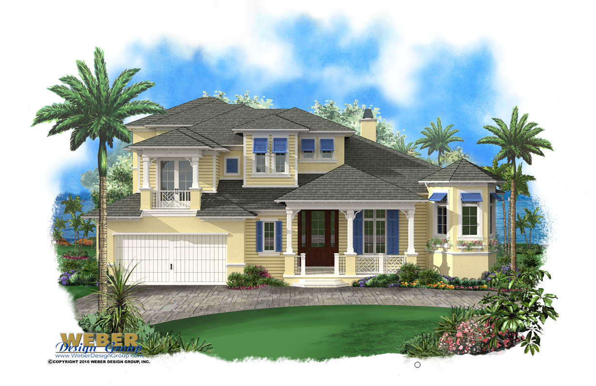 Beach House Plan Old Florida Caribbean Style Home Floor Plan