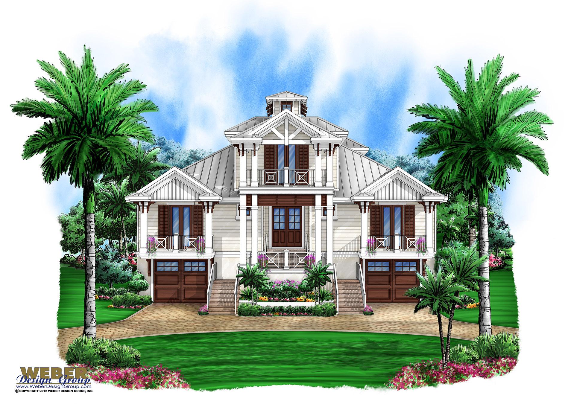 Beach House Plan 3 Story Old Florida