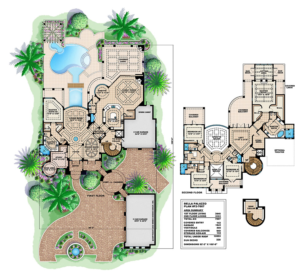 Spanish House Plans: Spanish Mediterranean Style Home