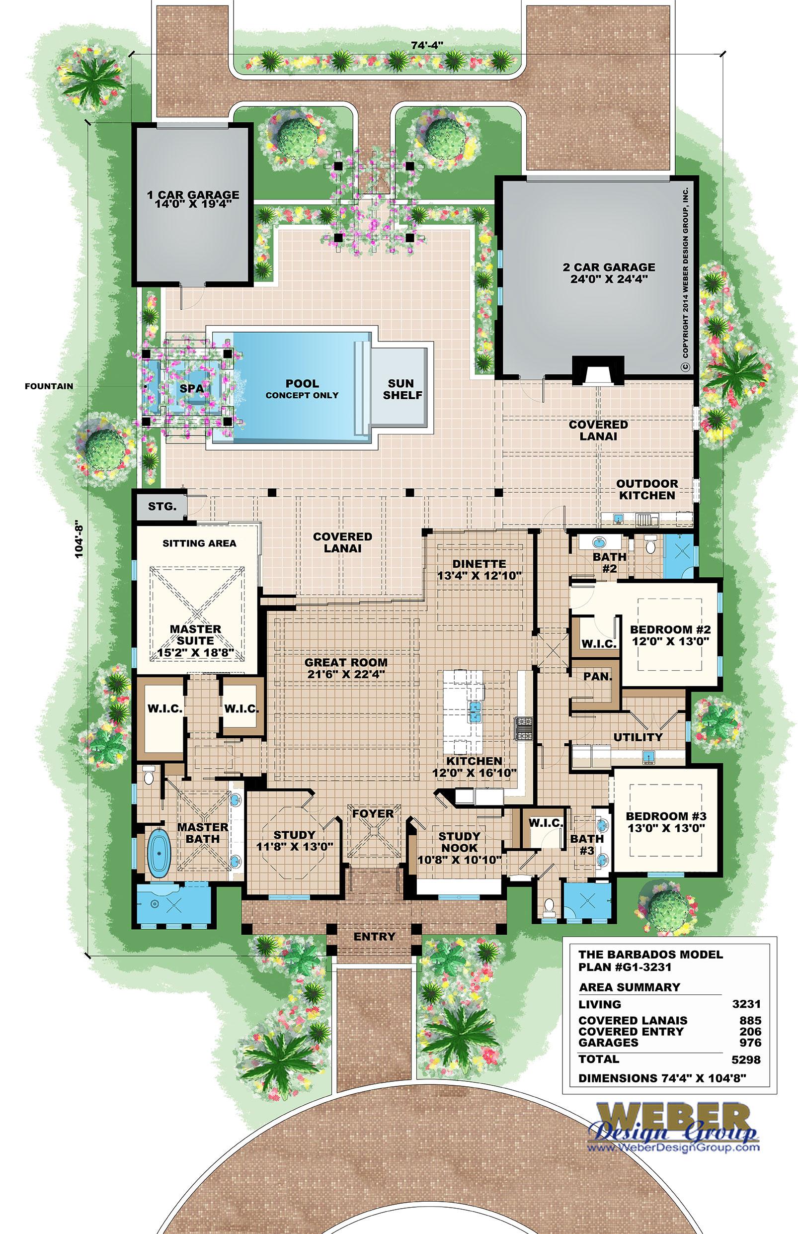 Key West House Plans Key West Island Style Home Floor Plans