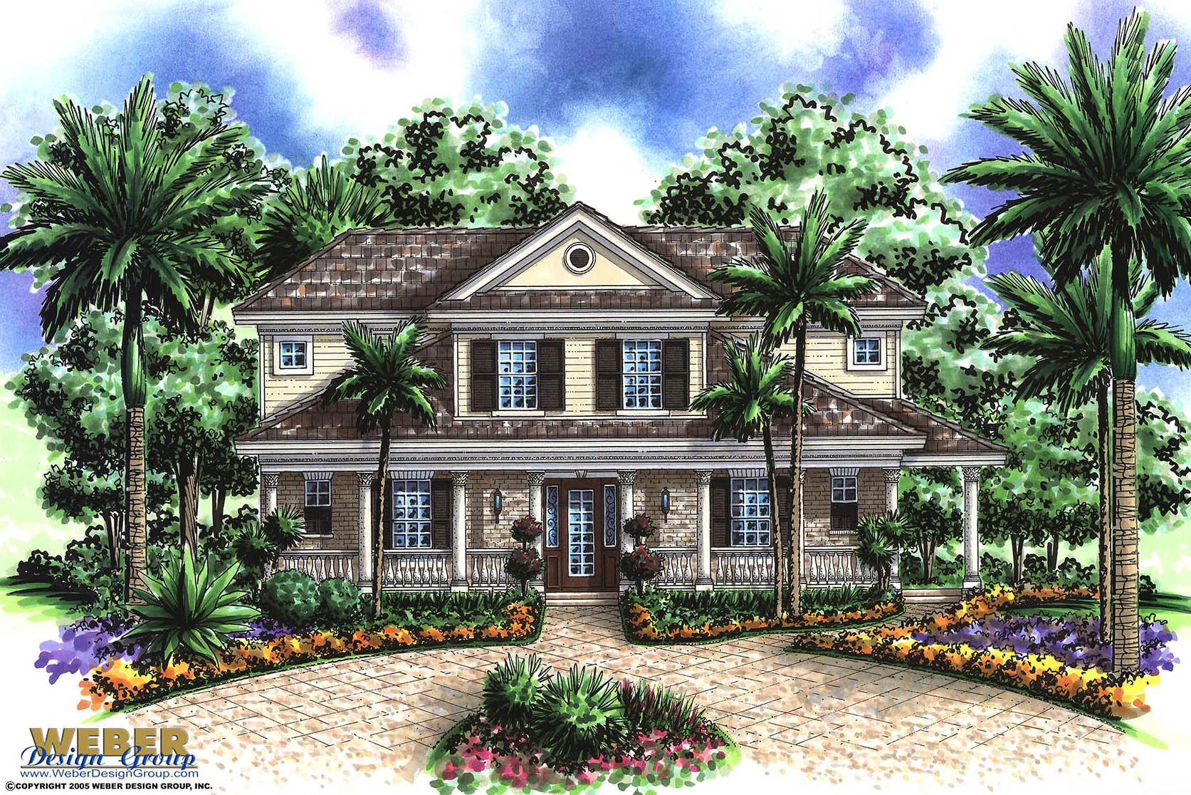 Wrap Around Porch House Plans: Island, Mediterranean, Florida Styles