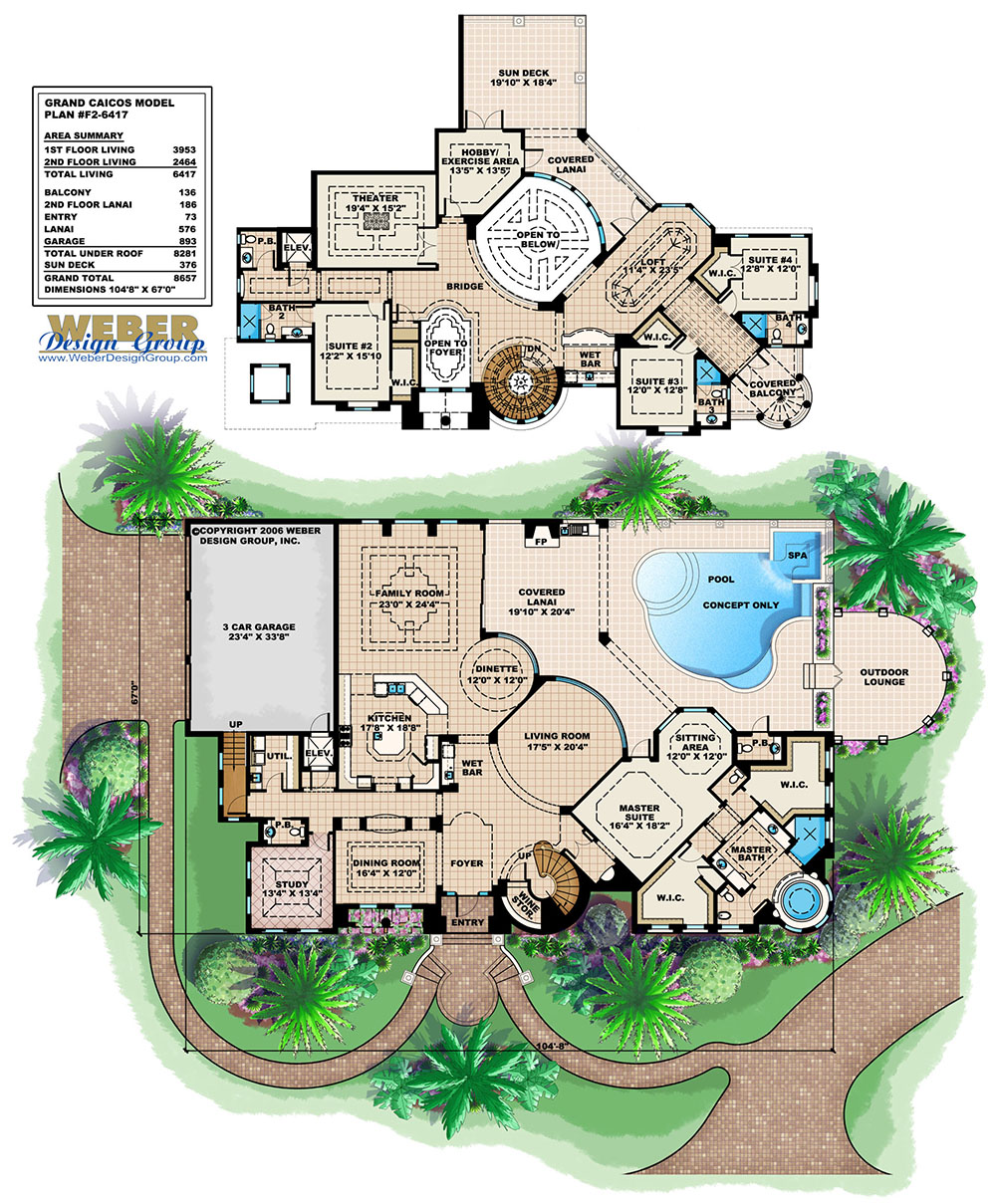 Grand Caicos - 42+ 2 Story Small Mediterranean House Plans PNG