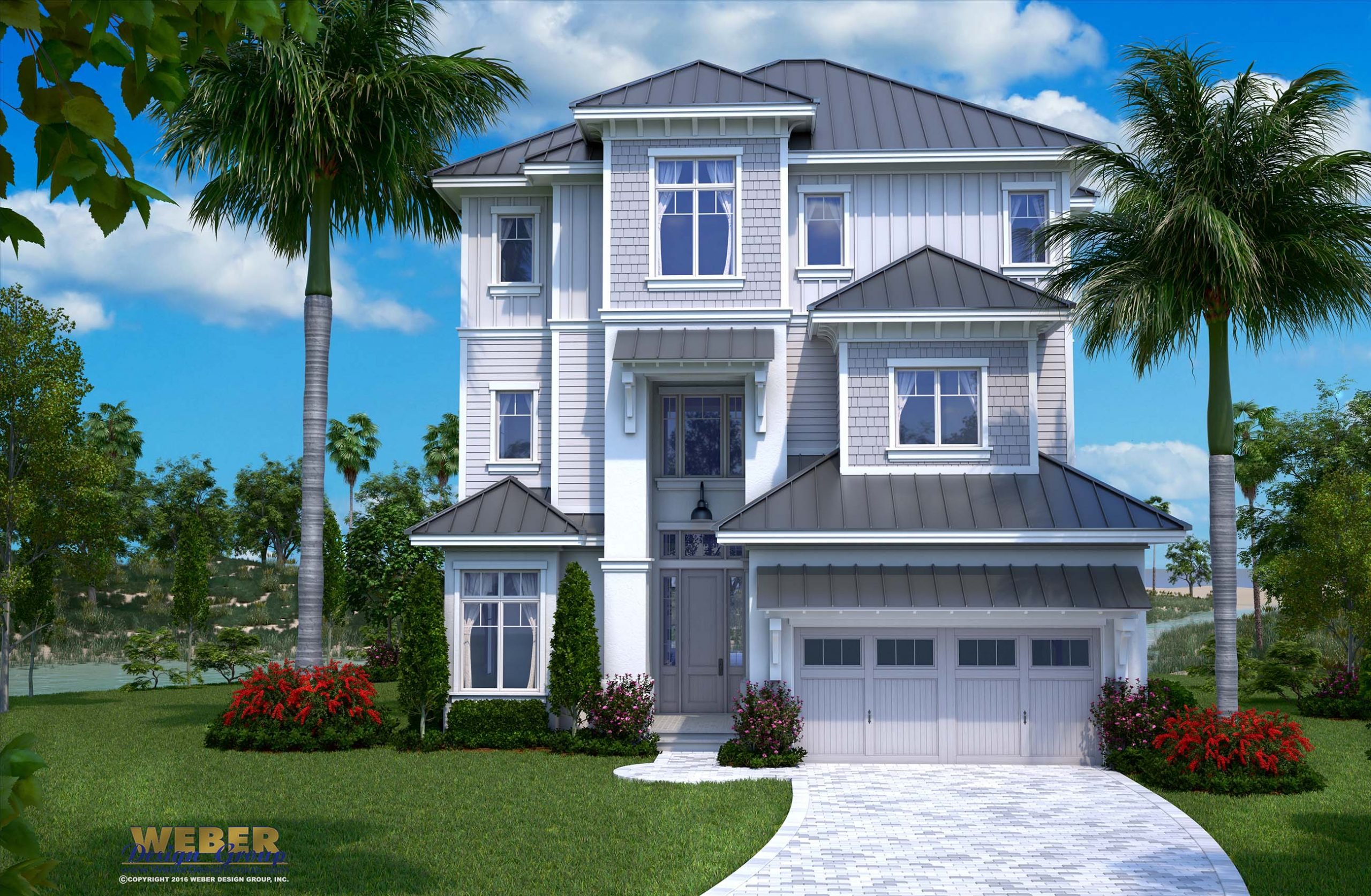 Beach House Plan Open Layout