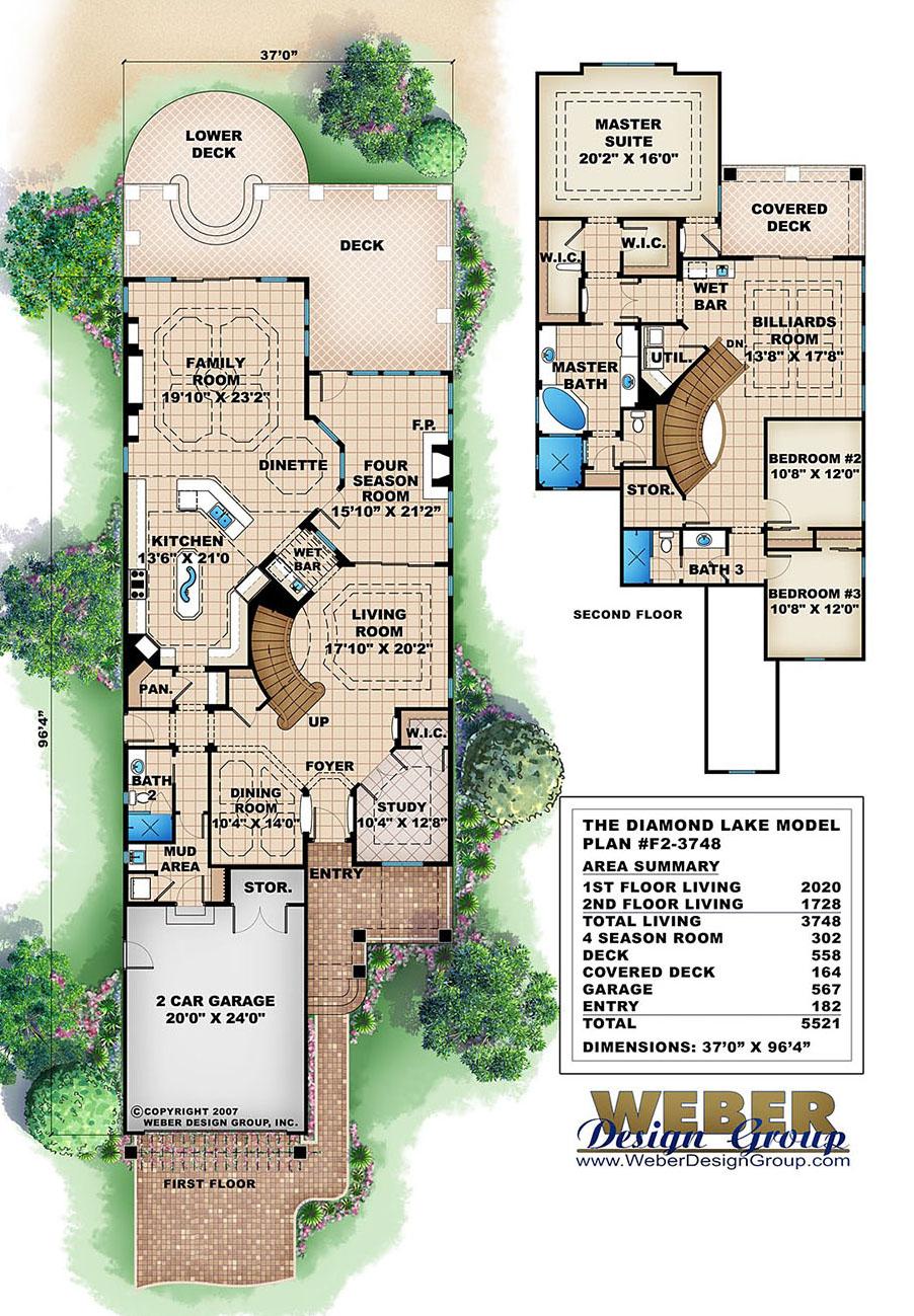 Craftsman House Plan Narrow Lot California Bungalow Style Floor Plan