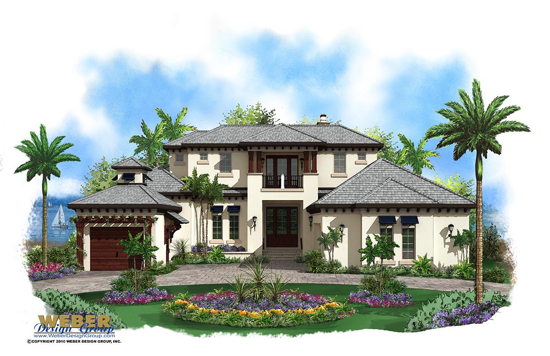 Caribbean House Plan: 2 Story Coastal Contemporary Floor Plan