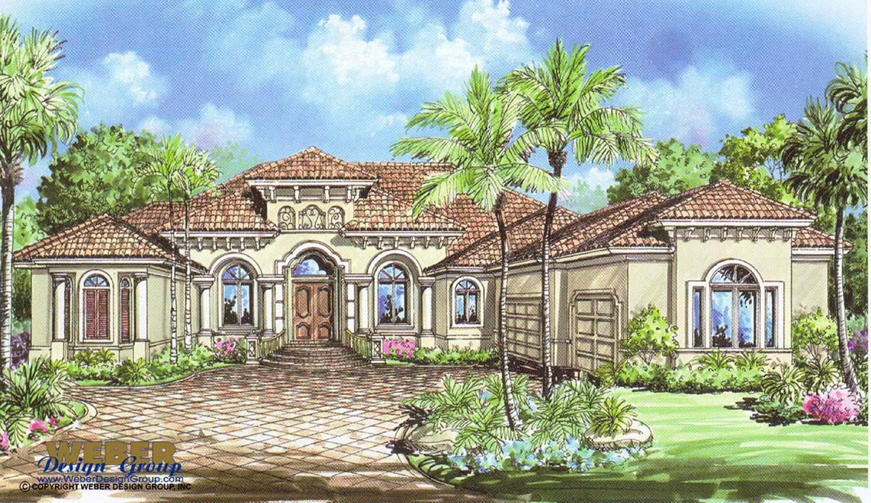 Mediterranean House Plan: 1 Story Mediterranean Floor Plan