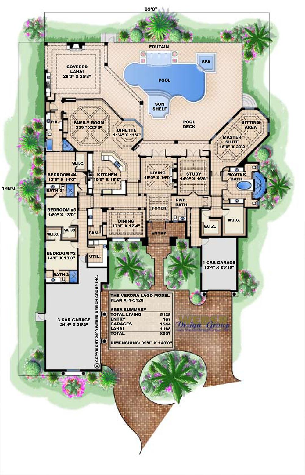 Mar A Lago House Plan Weber Design Group Inc