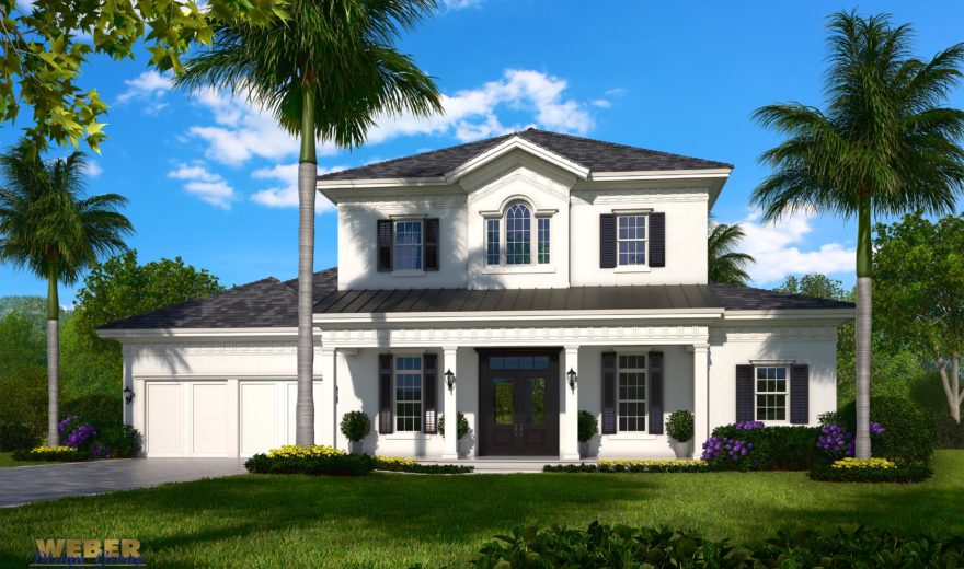 French Colonial Style House Plans Weber Design Group Naples Fl